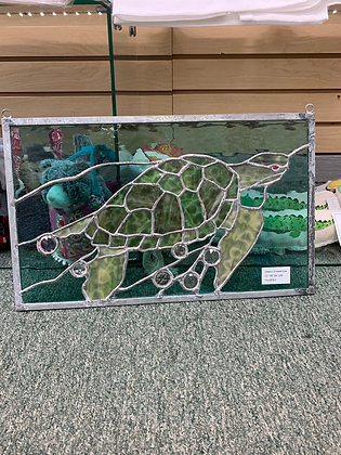 Elements of Stained Glass - Turtle with Stones
