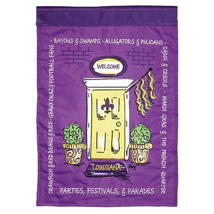 Louisiana Door Garden Flag 13 x 18