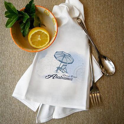 Orange Beach Alabama Chair and Umbrella Towel