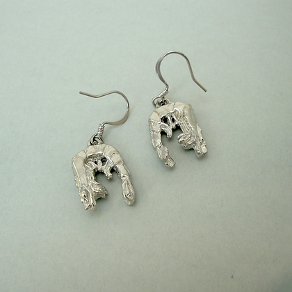 "Small shrimp 1/2"" Wire Earrings copyright by Maurice Milleur"