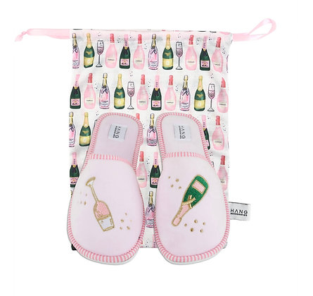 Champagne Foldable Slippers
