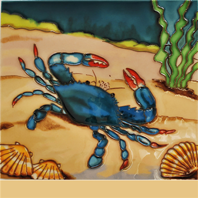 Blue Crab Tile Magnet 3x3