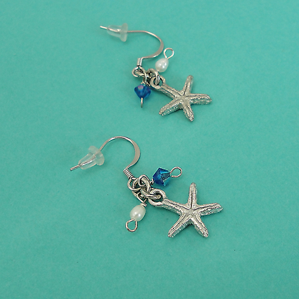 "Starfish Earrings 1/2"" Wire copyright by Maurice Milleur"