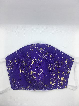 Purple & Gold Face Mask - Medium