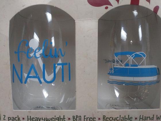 Motorboatin Shatterproof Wine Glass - set of 2