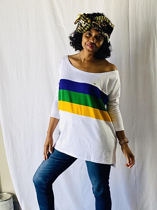Mardi Gras Off the Shoulder Shirt