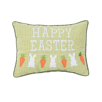 Happy Easter Embroidered Pillow