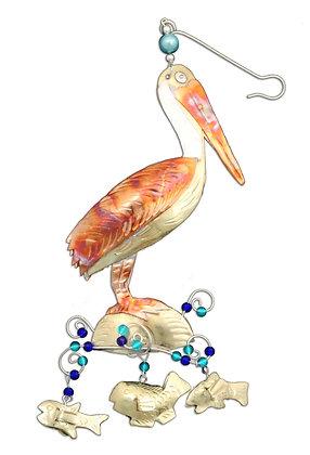 Pelican On The Beach - Christmas Ornament