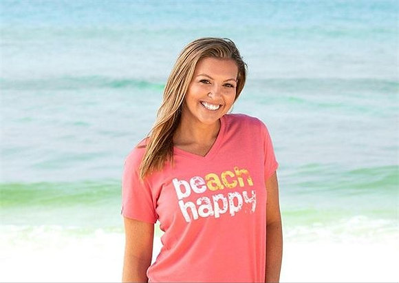 Beach Happy V-neck Tee