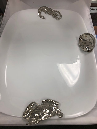 """Gumbo White Platter 13"""" x 9"""""""