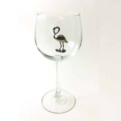 Flamingo Red Wine 16 oz Goblet copyright by Maurice Milleur