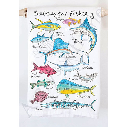 Saltwater Fishing Kitchen Towels