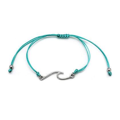Wave Bracelet Ocean Jewelry - Sea Green