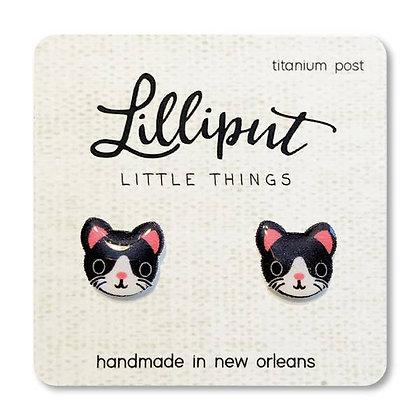 Cute Kitty Earrings - Tuxedo