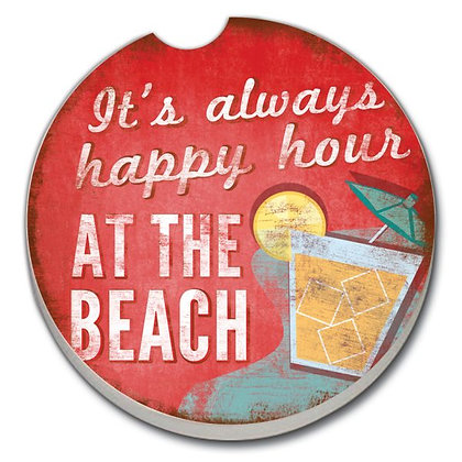 Car Coaster - It's always happy hour AT THE BEACH