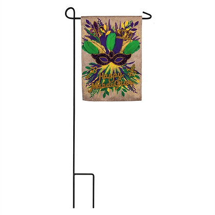 Mardi Gras Swag Garden Flag 12.5x18