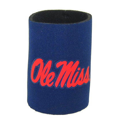 Ole Miss Can Coozie Blue
