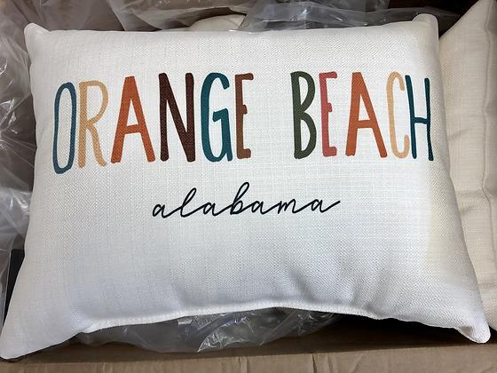 Orange Beach Pillow
