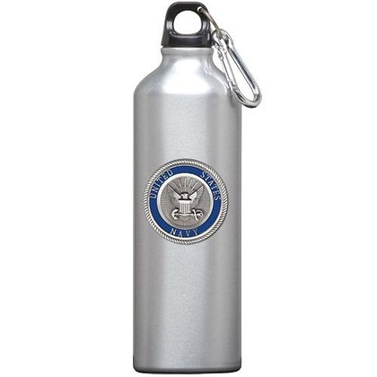 Navy Water Bottle - copyright