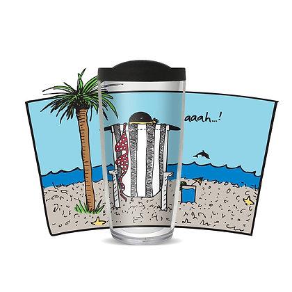 Aah Beach 16 oz Tumbler