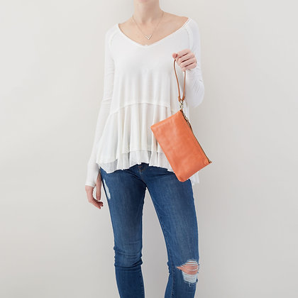 HOBO DARCY Convertible Crossbody Clutch in Dusty Coral