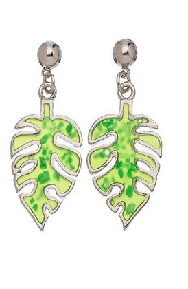 Stained Glass Palm Earrings
