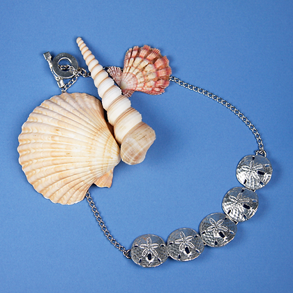 Sand Dollar Link Necklace copyright by Maurice Milleur