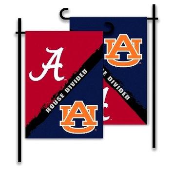Alabama/Auburn House Divided Garden Flag
