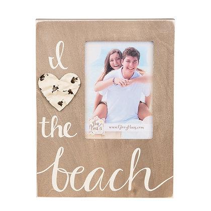 I Love The Beach Tin Frame