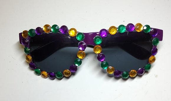 Mardi Gras Beaded Sunglasses