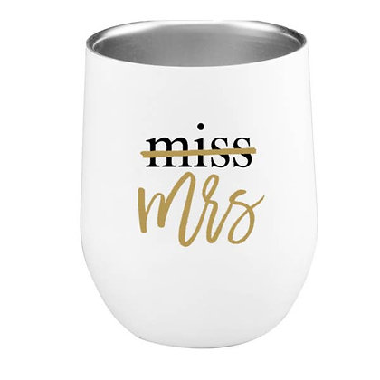 Miss to Mrs Wine Tumbler