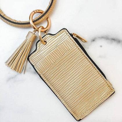Key Ring Zip Wallet with Tassel