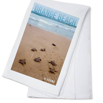 Orange Beach Alabama Sea Turtles Hatching Towel