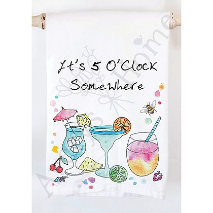 It's 5 O'Clock Somewhere Kitchen Towel