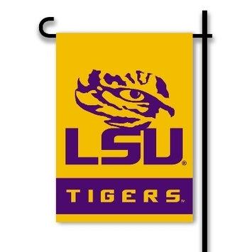 LSU Garden Flag with Tiger Eye