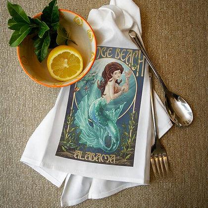 Orange Beach Alabama Mermaid Towel