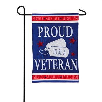 Proud to be a Veteran Garden Flag