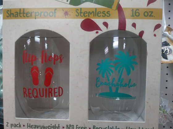 Beachaholic Shatterproof Wine Glass - set of 2