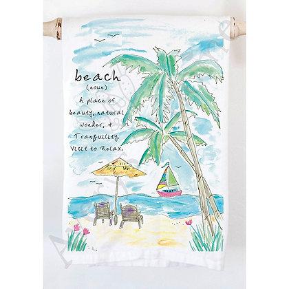 Beach Definition Kitchen Towel
