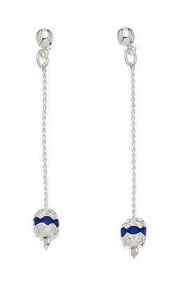 Rondelle Crystal Earrings Sapphire