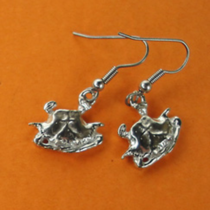 """Crab Earrings 1/2"""" copyright by Maurice Milleur"""