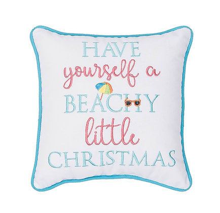 Have Yoursef a Beachy Little Christmas Pillow 10 x 10