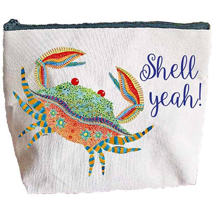 Crab Shell Yeah Zipper Pouch