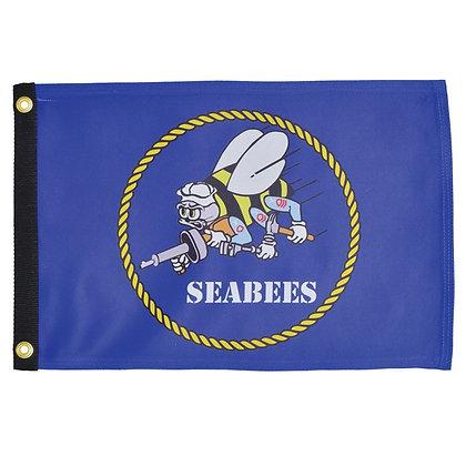 U.S. Navy Seabee Lustre 12x18 Grommet Flag