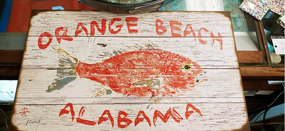 Red Snapper Sign