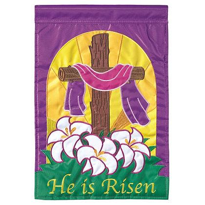 He is Risen Garden Flag