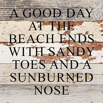 A Good Day at the Beach Wood Sign