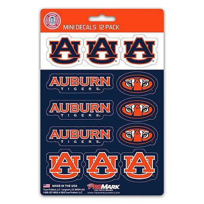 Auburn Tigers Mini Decal 12 Pack