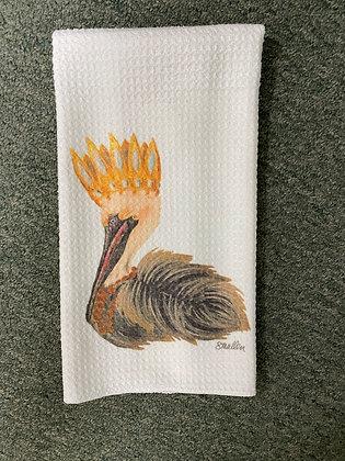 Pelican Tea Towel by artist Shannon Mullen