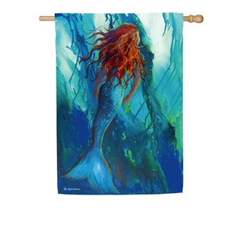 Swimming Mermaid Suede Flag - House Flag 29x43